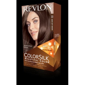 revlon colorsilk beautiful color permanent hair #33 dark soft brown