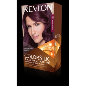 revlon colorsilk beautiful color permanent hair #34 deep burgundy