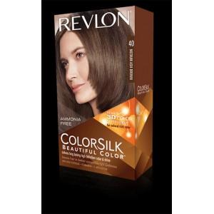 revlon colorsilk beautiful color permanent hair #40 medium ash brown