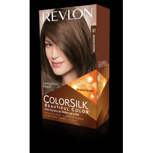 revlon colorsilk beautiful color permanent hair #41 medium brown