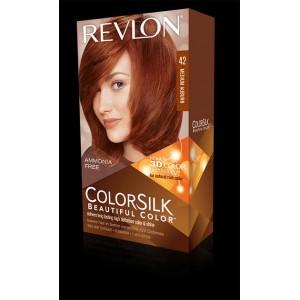 revlon colorsilk beautiful color permanent hair #42 medium brown