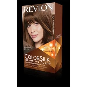 revlon colorsilk beautiful color permanent hair #43 medium golden brown