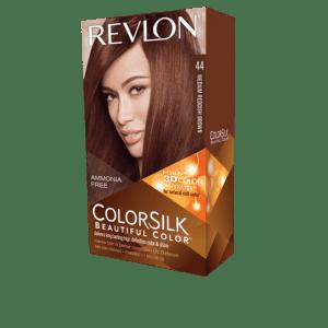revlon colorsilk beautiful color permanent hair #44 medium reddish brown