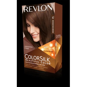 revlon colorsilk beautiful color permanent hair #47 medium rich brown