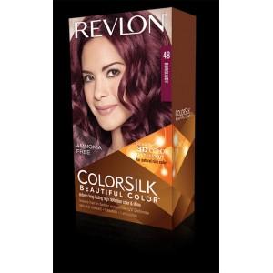 revlon colorsilk beautiful color permanent hair #48 burgundy