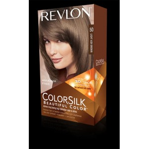 revlon colorsilk beautiful color permanent hair #50 light ash brown