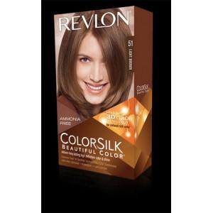revlon colorsilk beautiful color permanent hair #51 light brown
