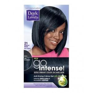 dark and lovely go intense hair color #21 - original black