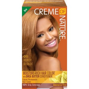 creme of nature exotic shine color #c41 - honey blonde