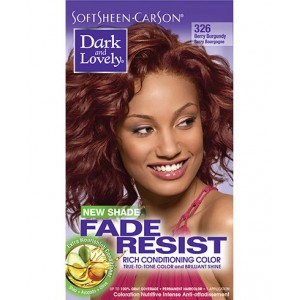 dark and lovely fade resistant rich conditioning color  #326 - berry burgundy