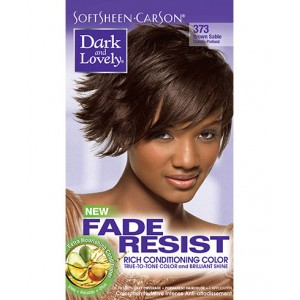 dark and lovely fade resistant rich conditioning color  #373 -  brown sable