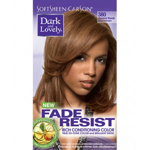 dark and lovely fade resistant rich conditioning color  #380 - chestnut blonde