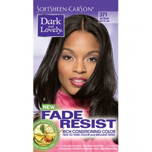 dark and lovely fade resistant rich conditioning color  #371 - jet black