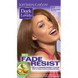 dark and lovely fade resistant rich conditioning color  #377 - sunkissed brown