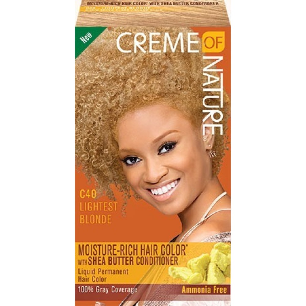 creme of nature exotic shine color #c40 - lightest blonde