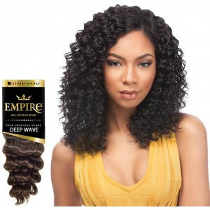 Sensationnel Empire Deep Wave 100% Human Hair Weave