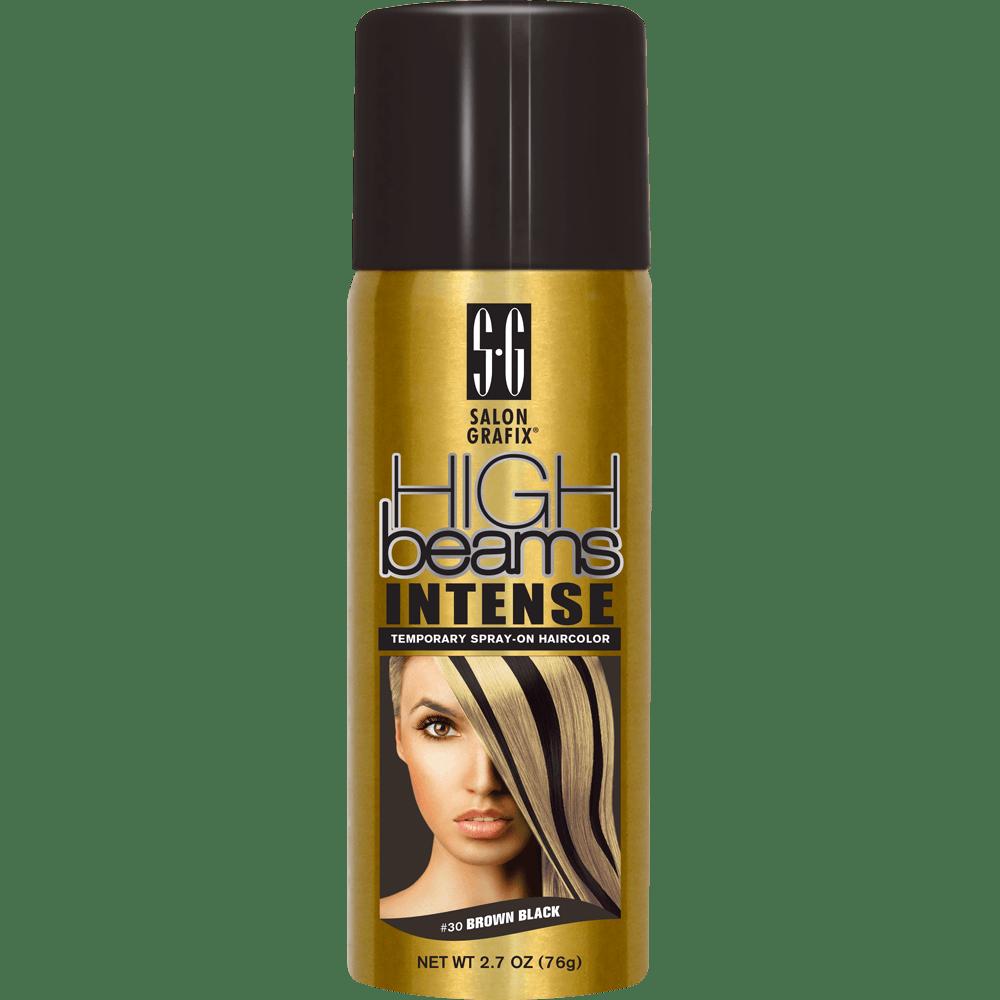 high beams intense temporary spray-on hair color - brown black
