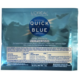L'oreal Quick Blue Extra Strength Powder Bleach 1 Oz