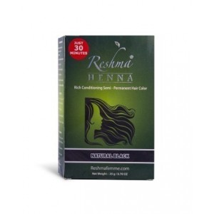 reshma henna semi-permanent hair color - natural black