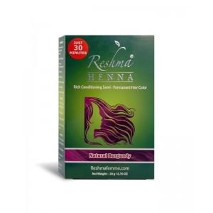 reshma henna semi-permanent hair color - natural burgundy henna