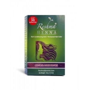 reshma henna semi-permanent hair color - natural dark brown