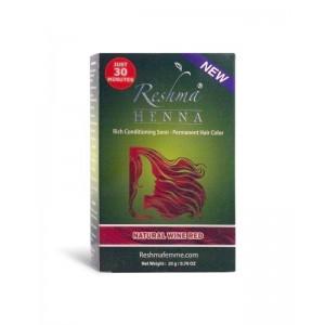 reshma henna semi-permanent hair color - natural wine red