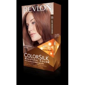 revlon colorsilk beautiful color permanent hair #55 light reddish brown