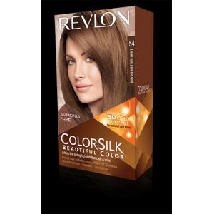 revlon colorsilk beautiful color permanent hair #54 light golden brown