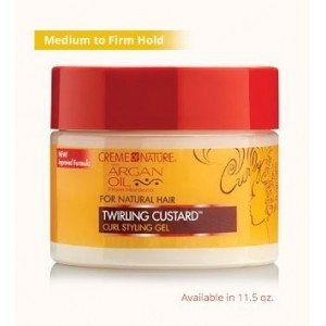 creme of nature argan oil twirling custard curl defining jelly