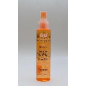 on natural oil free weave & wig shine mist tangerine