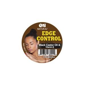 on natural edge control hair gel black castor oil & vitamim c