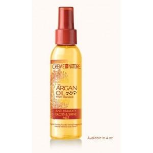 creme of nature argan oil anti- humidity gloss 7 shine mist