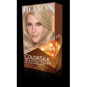 revlon colorsilk beautiful color permanent hair #80 light ash blonde