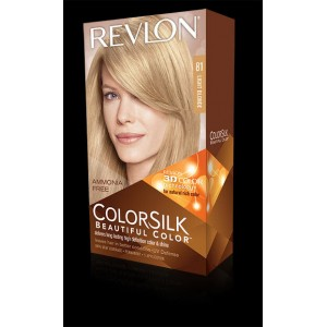 revlon colorsilk beautiful color permanent hair #81 light blonde