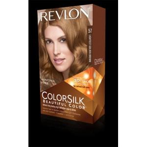 revlon colorsilk beautiful color permanent hair #57 lightest golden brown