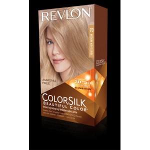 revlon colorsilk beautiful color permanent hair #70 medium ash blonde