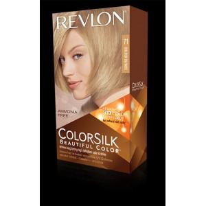 revlon colorsilk beautiful color permanent hair #71 golden blonde