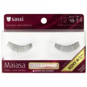 Sassi Maiasa 100% Remy Human Hair  Eyelashes With Glue #12