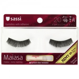 Sassi Maiasa 100% Remy Human Hair  Eyelashes With Glue #20