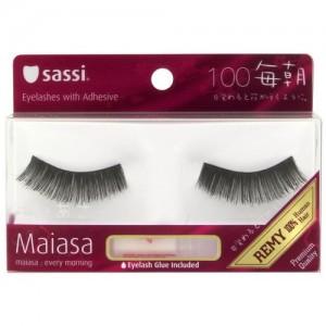 Sassi Maiasa 100% Remy Hair  Eyelashes With Glue #100