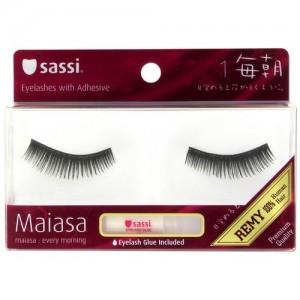 Sassi Maiasa 100% Remy Hair  Eyelashes With Glue #1