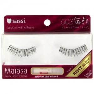 Sassi Maiasa 100% Remy Hair  Eyelashes With Glue #503