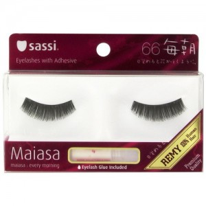 Sassi Maiasa 100% Remy Human Hair  Eyelashes With Glue #66