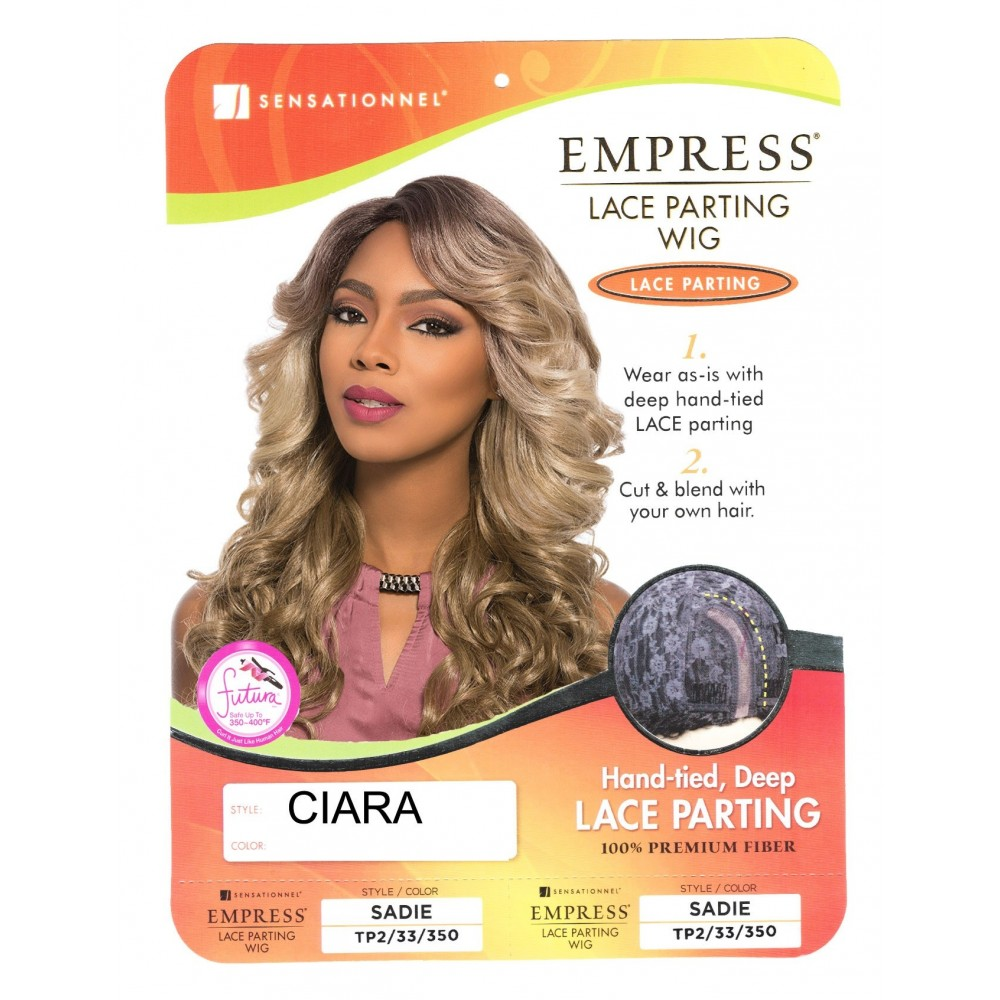 Sensationnel Empire Synthetic Lace Front Parting Wig Hand-tied Deep Ciara