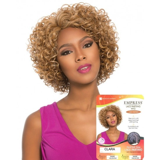 SENSATIONNEL EMPIRE SYNTHETIC LACE FRONT PARTING WIG HAND-TIED DEEP CLARA