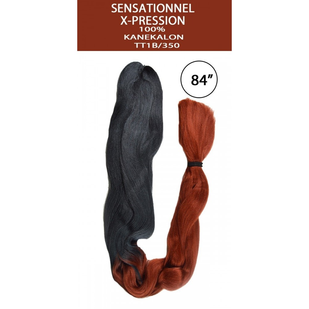 Sensationnel African Collection Synthetic 100% Kanekalon X-pression Braid Ombre Color