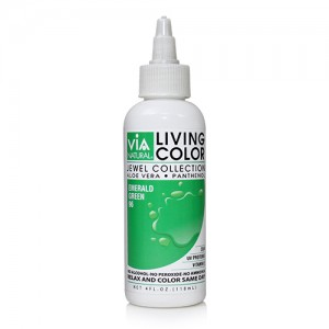 Via Natural Living Permanent Hair Color #96 Emerald Green 4oz