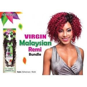 bijoux beauty element soprano unprocessed  malysian virgin remy human hair weave bohemian  6pcs + free closure