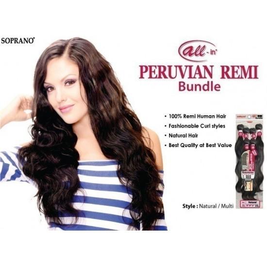 bijoux beauty element soprano unprocessed  peruvian virgin remy human hair weave natural wavy 6pcs + free closure