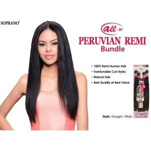 bijoux beauty element soprano unprocessed  peruvian virgin remy human hair weave straight 6pcs + free closure